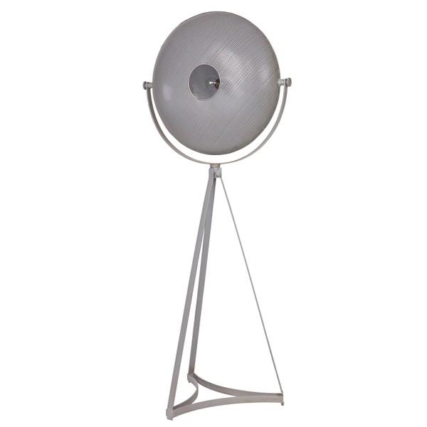Stehlampe BLOWN 145 cm Metall grau Flurlampe Stehleuchte