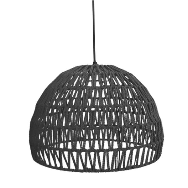 Hängelampe Rope Ø 38 cm Baumwolle schwarz Hängeleuchte Leuchte Lampe Deckenlampe