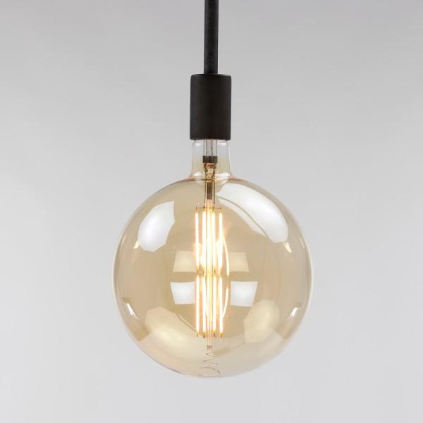 LED Glühlampe Filament Globus Ø 20 cm Leuchte Glühbirne E27 Lampe 8W dimmbar