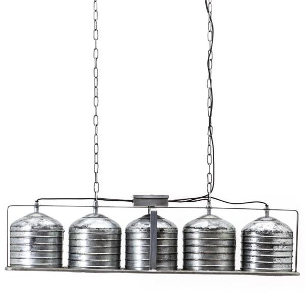 Hängelampe Minack 5 flammig Metall metallic Hängeleuchte Lampe Deckenlampe