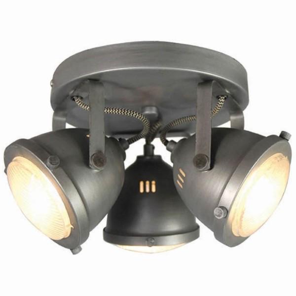 LED Deckenleuchte MOTO 3 flg Metall grau Lampe Deckenlampe Deckenbeleuchtung