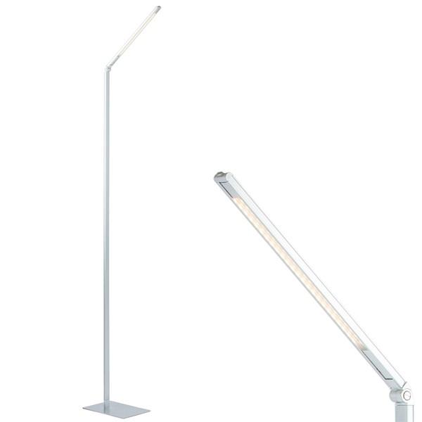 LED Stehleuchte Leseleuchte PIPE titanfarbig Standleuchte Leuchte Beleuchtung