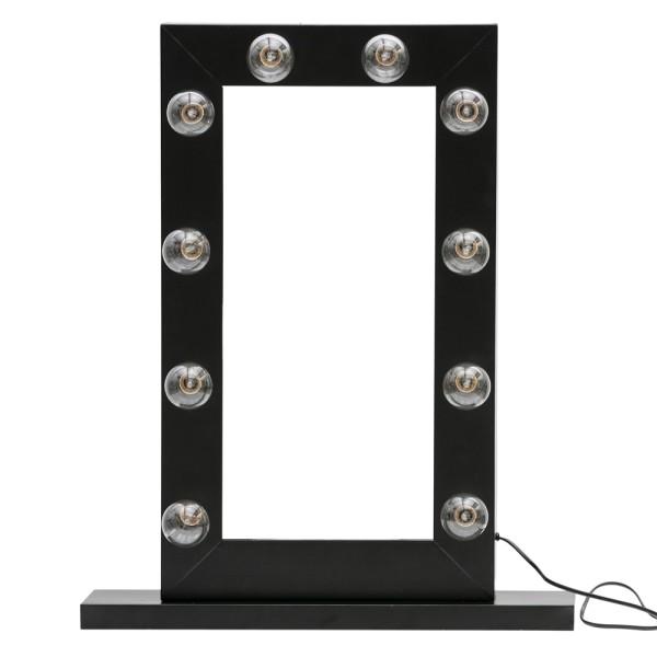 Make-up Spiegel Mollie schwarz Beleuchtung Standspiegel Kosmetikspiegel