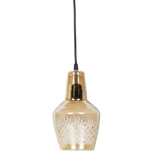 Hängelampe Engrave Ø 15 cm Glas antikmessing Lampe Hängeleuchte Pendelleuchte