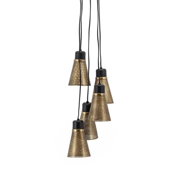 Hängelampe Spektr 5 flmg. Metall bronze Deckenleuchte Lampe Hängeleuchte