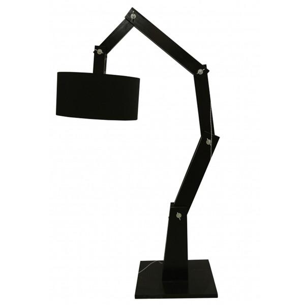 Flurlampe Stehlampe BEN Stehleuchte Flurleuchte Lampe 205 cm Holz schwarz (ohne Lampenschirm)