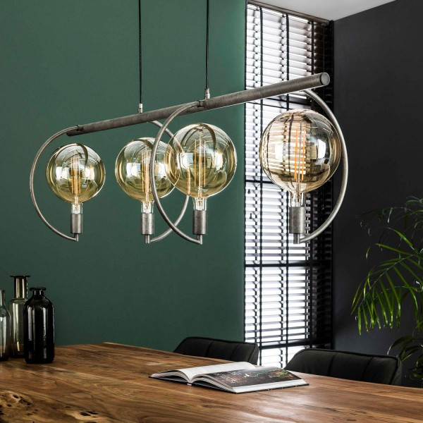 Hängelampe COCIO 4 flmg Metall altsilber Finish Lampe Deckenlampe Hängeleuchte