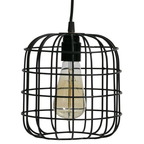 Hängelampe Lotus Ø 20 cm Gitter Hängeleuchte Lampe Pendelleuchte Metall schwarz
