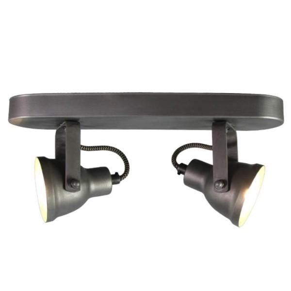 LED Deckenleuchte MAX 2 flg Metall grau Lampe Deckenlampe Deckenbeleuchtung