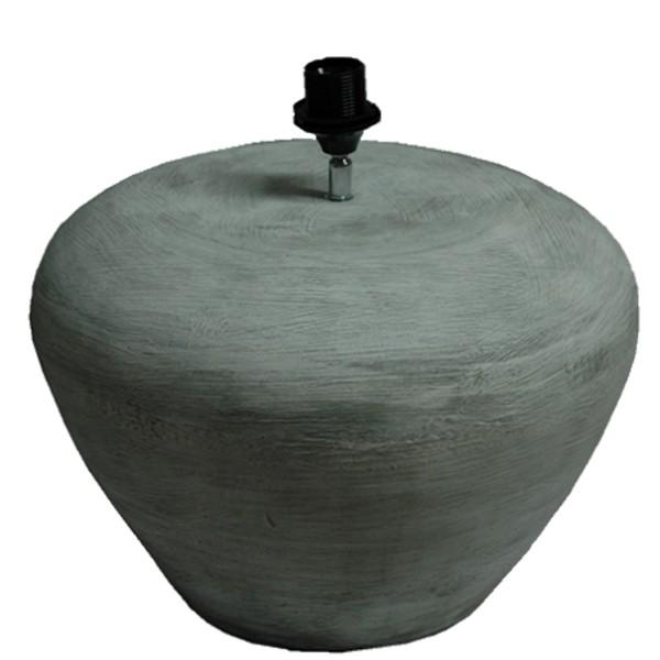 Tischlampe LOTTE Lampe rund Ø 40 cm Leuchte Tischleuchte Stein grau