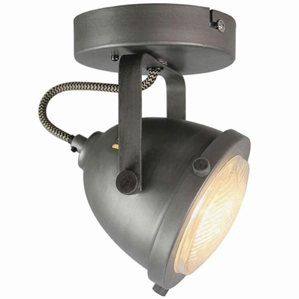 LED Deckenleuchte MOTO 1 flg Metall grau Lampe Deckenlampe Deckenbeleuchtung