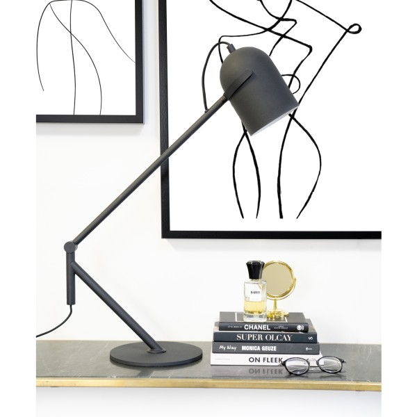 Tischlampe 1L SLEEK Metall schwarz Tischleuchte Lampe Leuchte
