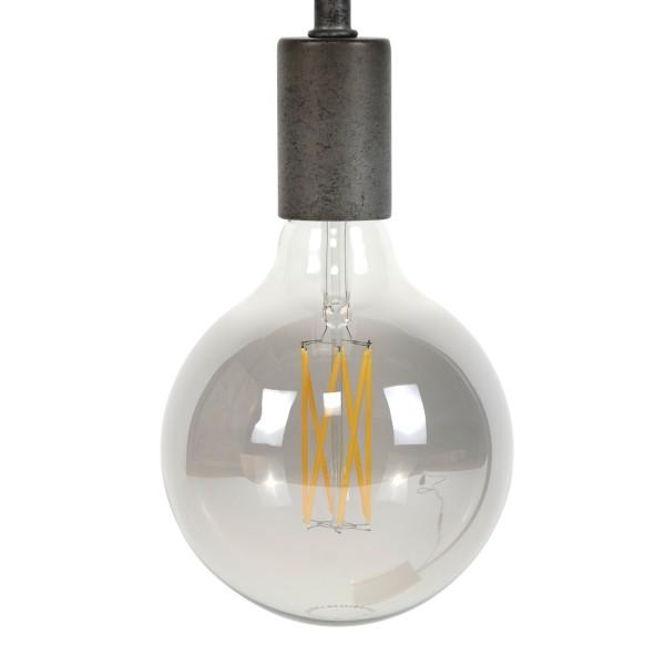 LED Glühlampe Filament Globus smoked grey Ø 12,5 cm Leuchte Glühbirne 6W E27 Lampe dimmbar