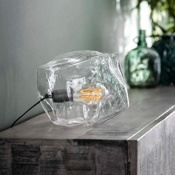 Tischlampe ICE CUBE Glas Eiswürfel Würfel Tischleuchte Lampe Leuchte