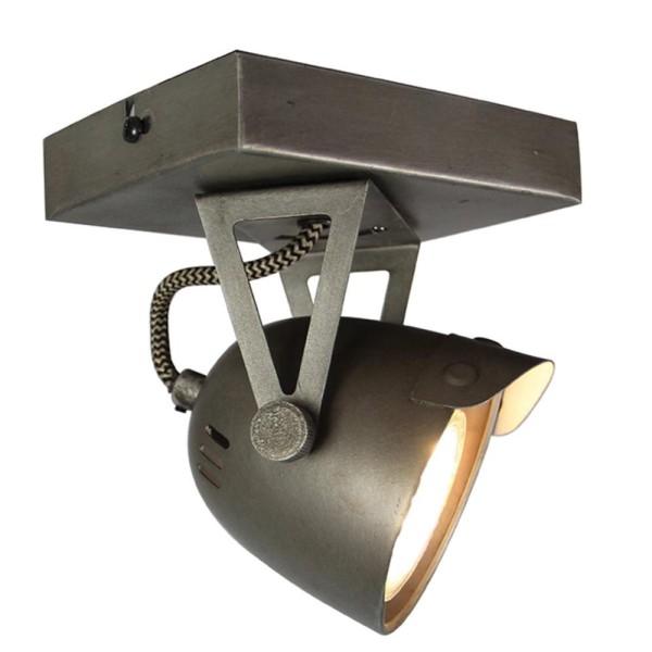 LED Deckenleuchte SPOT 1 flg Metall grau Lampe Deckenlampe Deckenbeleuchtung