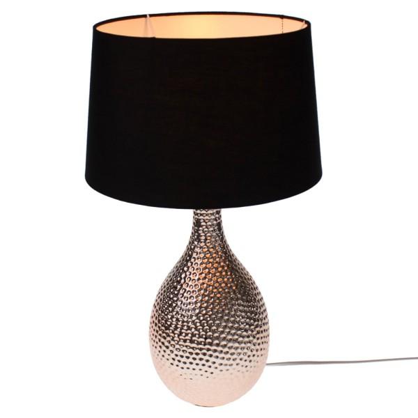 Tischlampe Harmony kupfer schwarz 52 cm hoch Tischleuchte Schirm Lampe Leuchte