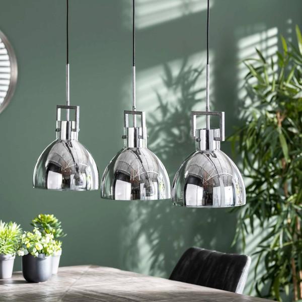 Hängelampe Industry 3 flmg Ø 25 cm alt Silber Deckenleuchte Lampe Hängeleuchte