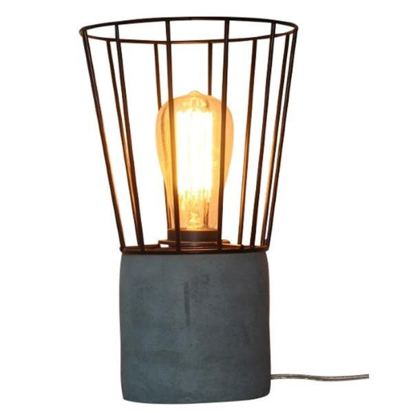 Tischlampe MADRID KORF Tisch Lampe Leuchte Tischleuchte Betonlook Metall