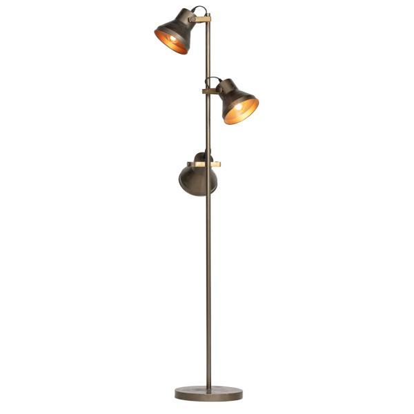Flurlampe Triplet 3 flmg Metall antikmessing 165 cm Standleuchte Stehlampe Lampe