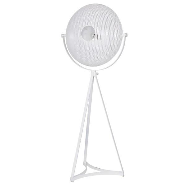 Stehlampe BLOWN 145 cm Metall weiß Flurlampe Stehleuchte