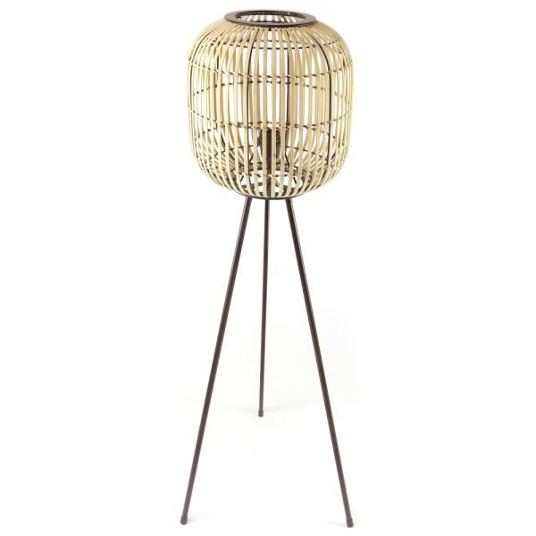 Stehlampe Sunset H 115 cm Bambus beige Flurlampe Lampe Leuchte Standleuchte