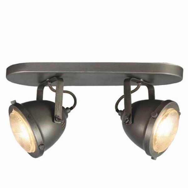 LED Deckenleuchte MOTO 2 flg Metall grau Lampe Deckenlampe Deckenbeleuchtung