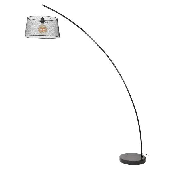 Bogenlampe MONZE H 206 cm kohlegrau 1flg Stehlampe Standleuchte Lampe Standlampe