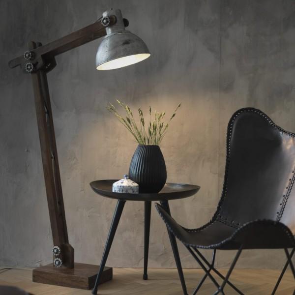 Flurlampe Copenhagen H 130 cm Standleuchte Stehlampe Lampe Metall zinkfarben