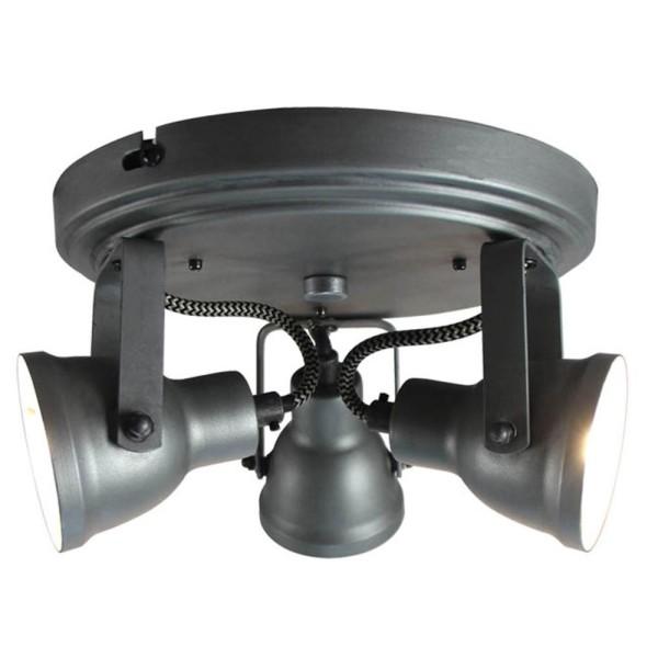 LED Deckenleuchte MAX 3 flg Metall grau Lampe Deckenlampe Deckenbeleuchtung