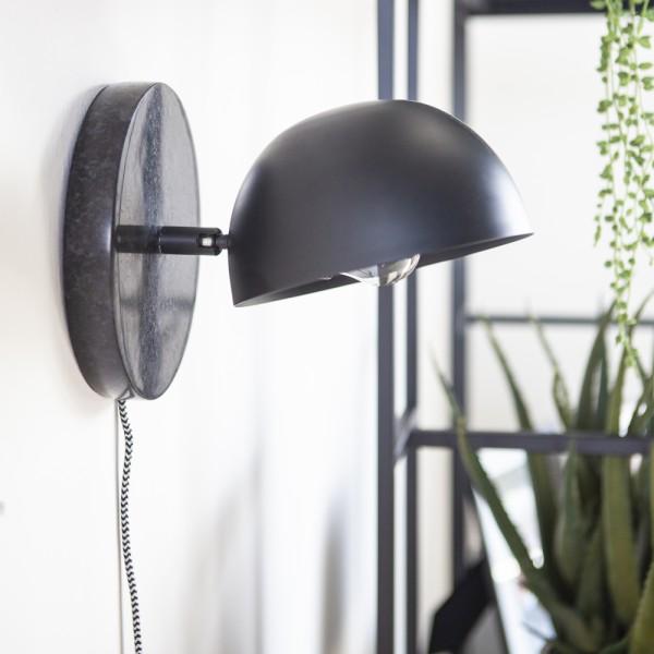 Wandlampe Lisa Marmor schwarz Metall mattschwarz Wandleuchte Lampe Beleuchtung