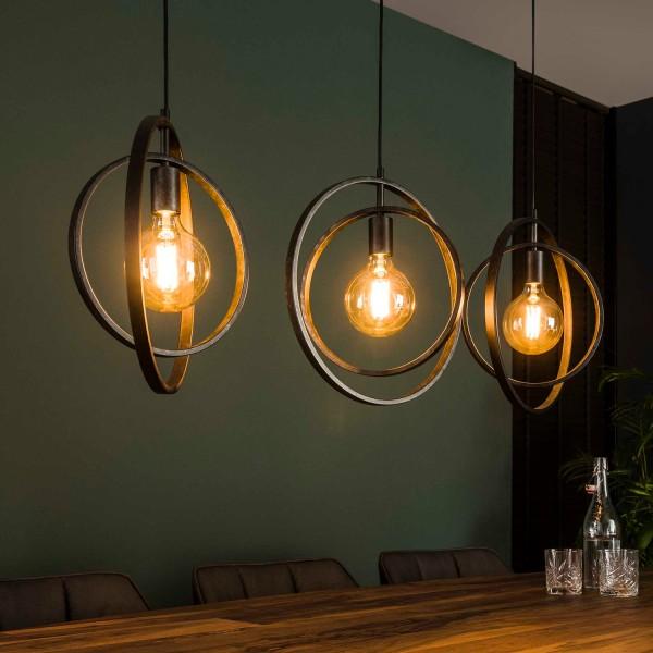 Hängelampe ROUND 3 flmg Metall kohlegrau Lampe Deckenlampe Hängeleuchte