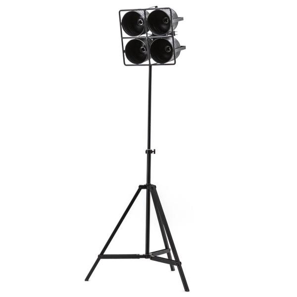 Flurlampe Minack 4 flammig Standleuchte Stehlampe Lampe Metall schwarz