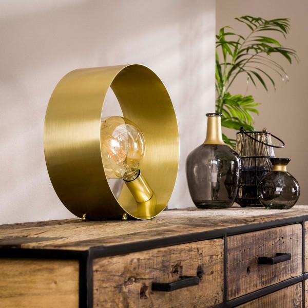 Tischlampe TULIP H 30 cm 1L Metall gold Tischleuchte Lampe Leuchte