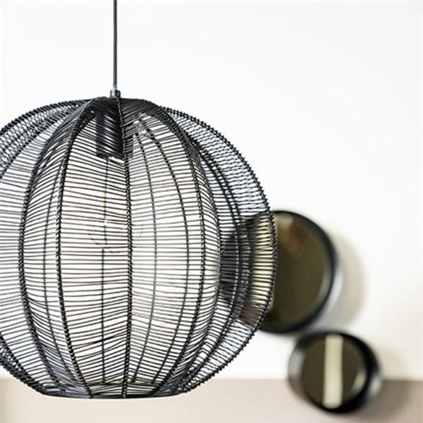 Hängelampe Floss Ø 32 cm 1L Metall schwarz Lampe Deckenlampe Hängeleuchte