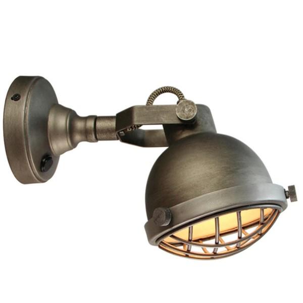 LED Wandlampe CAS Metall grau Wandleuchte Lampe Leuchte Beleuchtung
