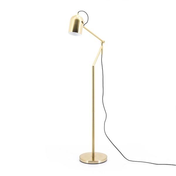 Flurlampe SLEEK 1L H 161 Metall goldfarben Standleuchte Stehlampe Lampe