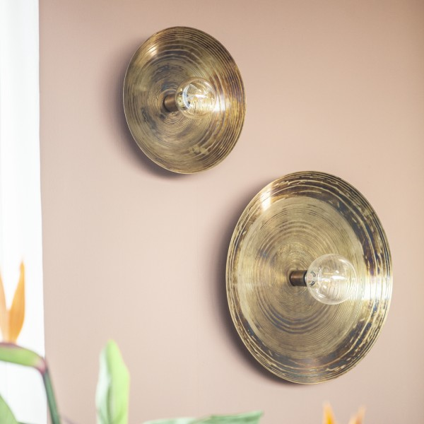 Wandlampe Horus Ø 52 cm Metall bronze Wandleuchte Lampe Leuchte Beleuchtung