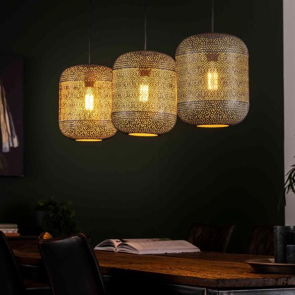 Hängelampe Zetch 3 flmg Ø 25 cm Metall Deckenleuchte Lampe Hängeleuchte Leuchte