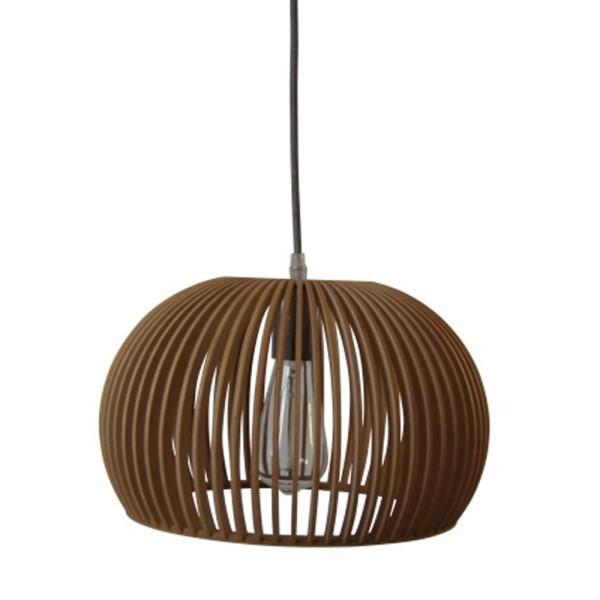 Vintage Hängelampe IVY Ø 33 cm Hängeleuchte Lampe Pendelleuchte Holz braun
