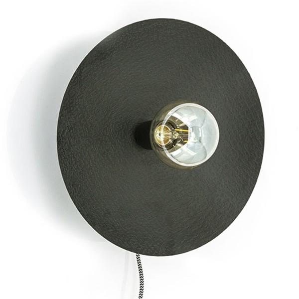 Wandlampe Horus Ø 33 cm Metall schwarz Wandleuchte Lampe Leuchte Beleuchtung