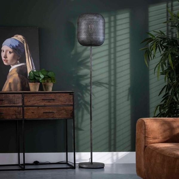 Flurlampe Zetch H 164 cm Metall altsilber Standleuchte Stehlampe Lampe
